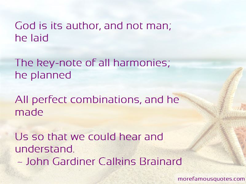 John Gardiner Calkins Brainard Quotes