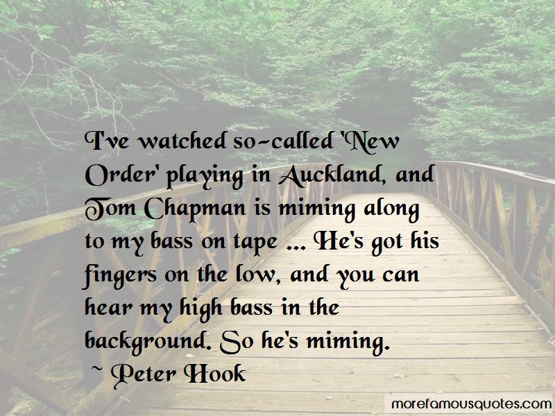 Peter Hook Quotes