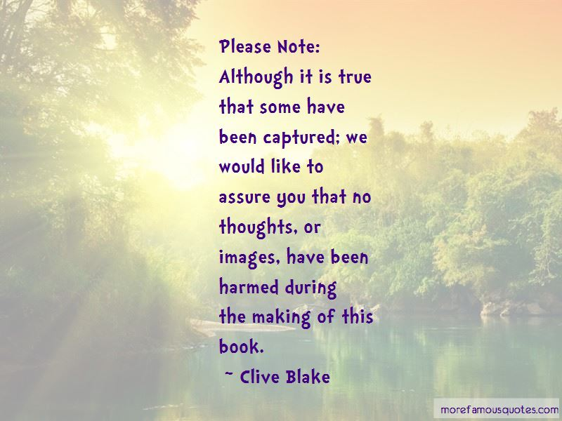 Clive Blake Quotes