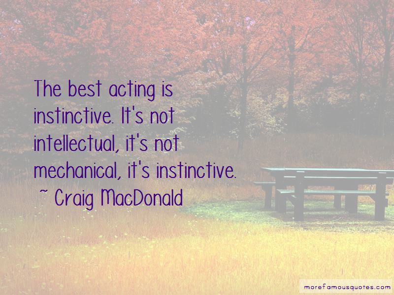 Craig MacDonald Quotes
