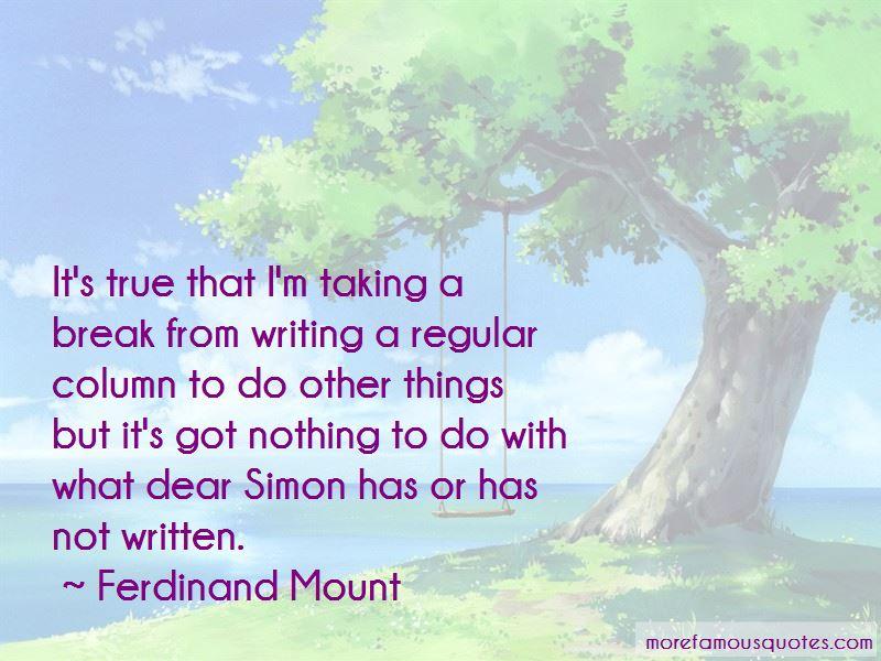 Ferdinand Mount Quotes Pictures 2