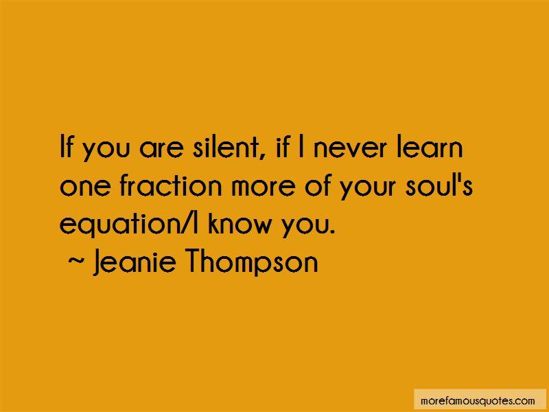 Jeanie Thompson Quotes
