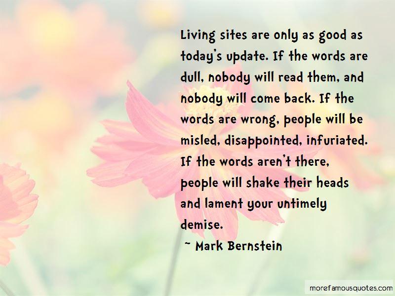 Mark Bernstein Quotes Pictures 3