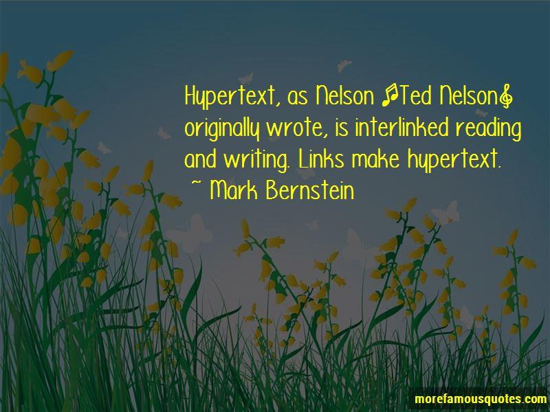 Mark Bernstein Quotes