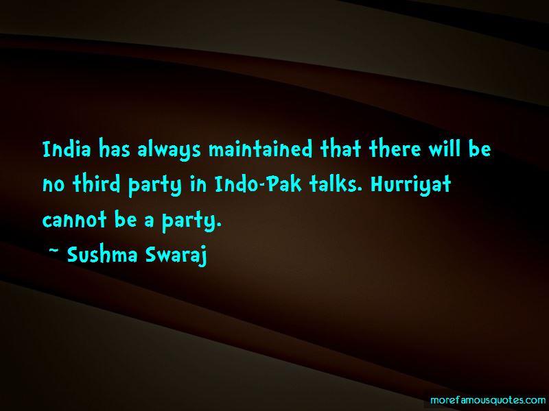 Sushma Swaraj Quotes