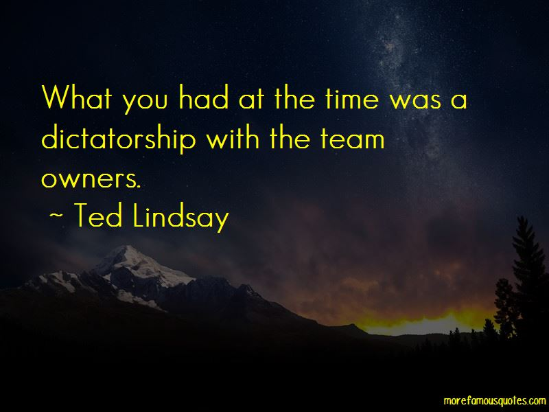 Ted Lindsay Quotes Pictures 4