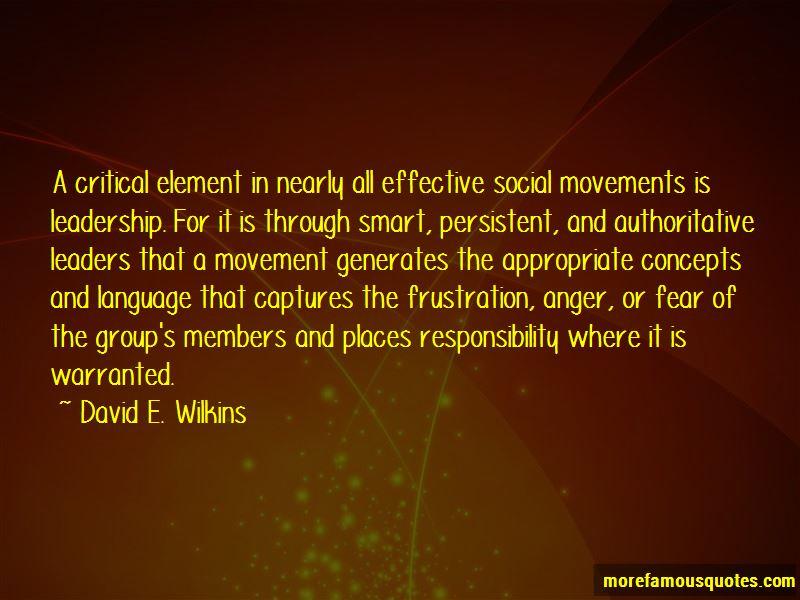 David E. Wilkins Quotes