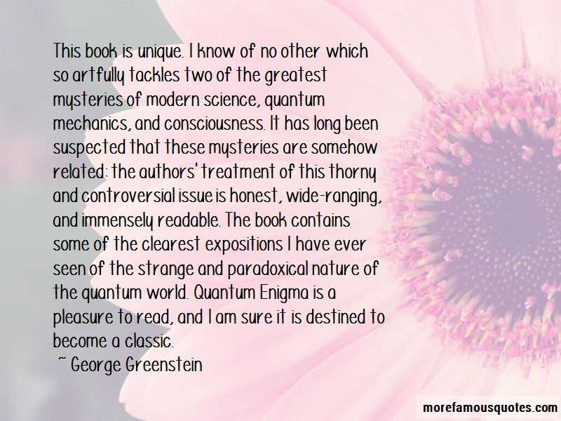 George Greenstein Quotes Pictures 2