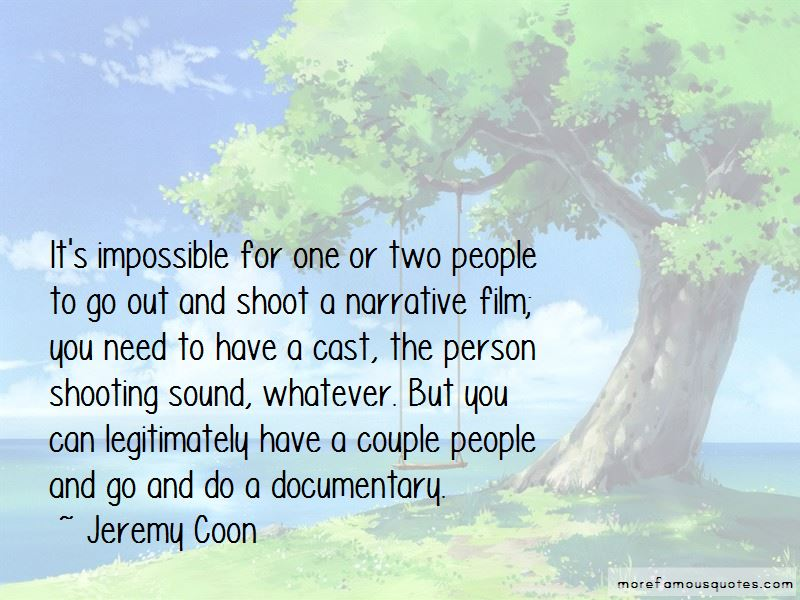 Jeremy Coon Quotes
