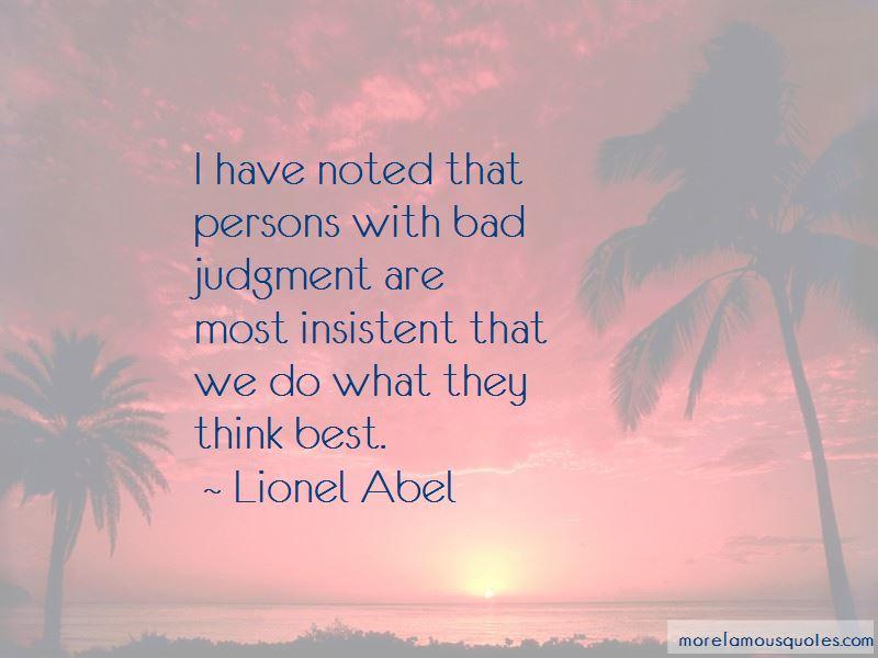 Lionel Abel Quotes