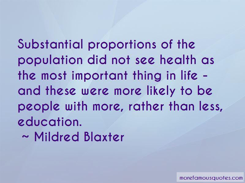 Mildred Blaxter Quotes Pictures 3