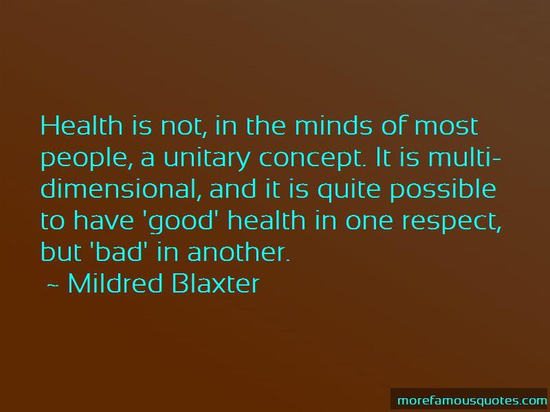 Mildred Blaxter Quotes