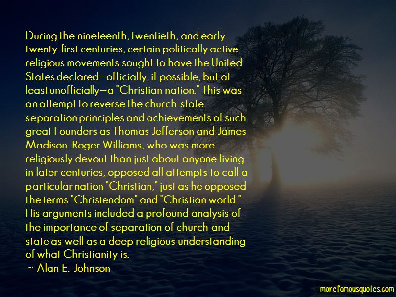 Alan E. Johnson Quotes Pictures 3