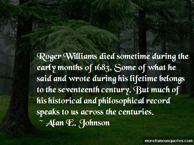 Alan E. Johnson Quotes