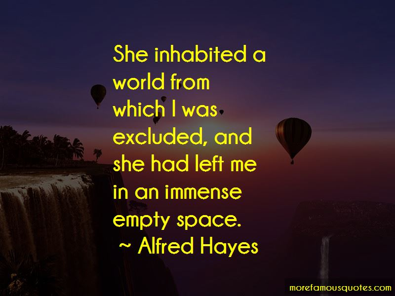 Alfred Hayes Quotes