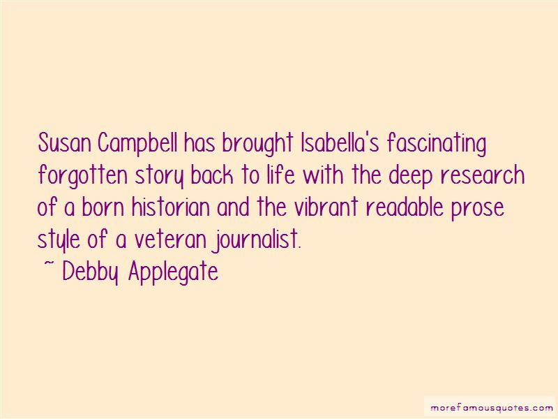 Debby Applegate Quotes