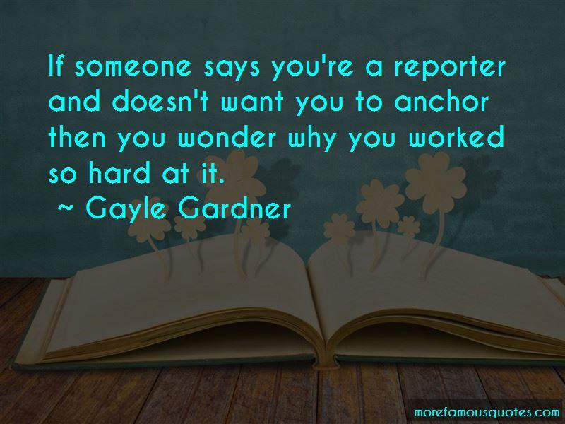Gayle Gardner Quotes