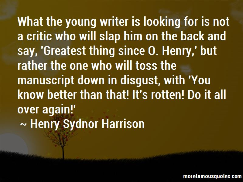 Henry Sydnor Harrison Quotes