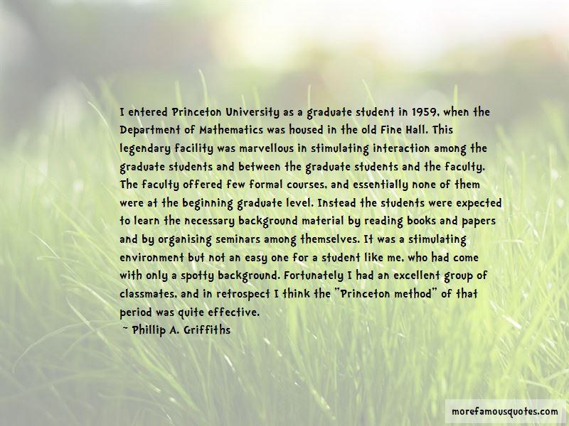 Phillip A. Griffiths Quotes
