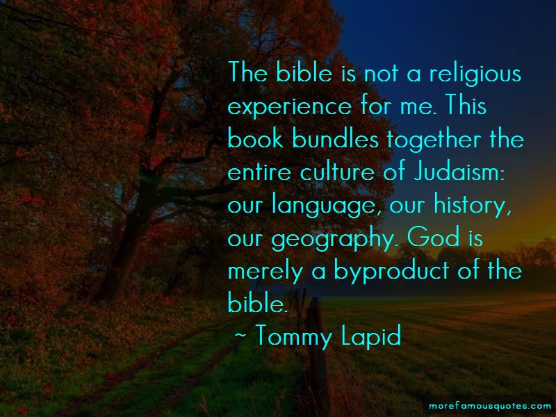 Tommy Lapid Quotes Pictures 3