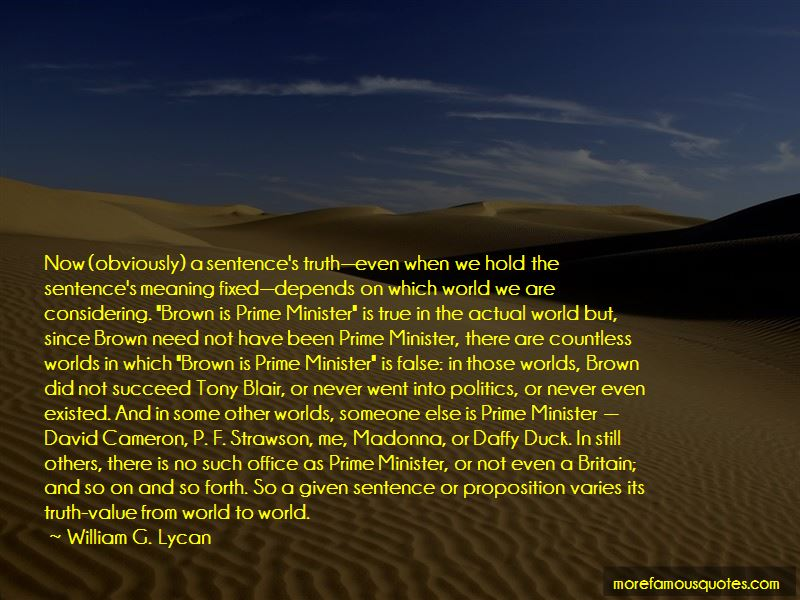 William G. Lycan Quotes