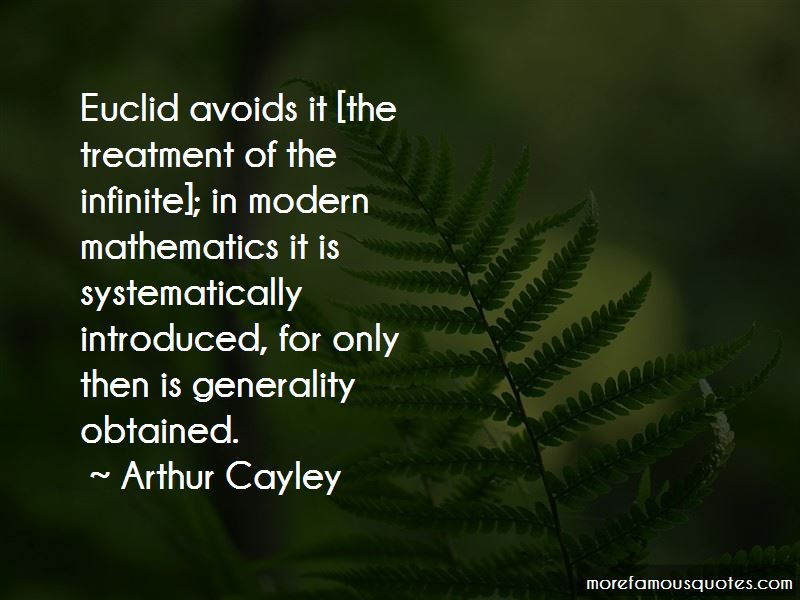 Arthur Cayley Quotes Pictures 2