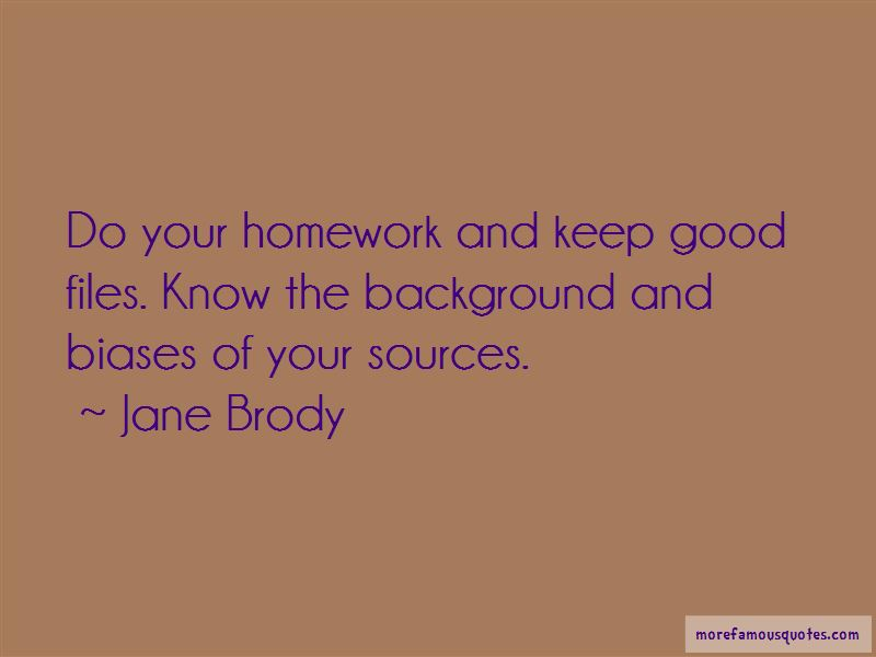 Jane Brody Quotes Top 8 Famous Quotes By Jane Brody