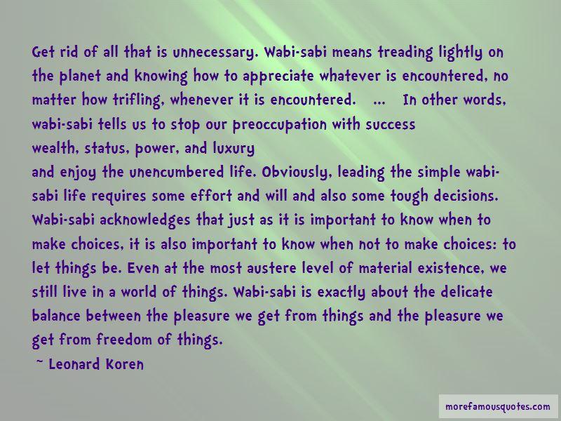 Leonard Koren Quotes Pictures 3