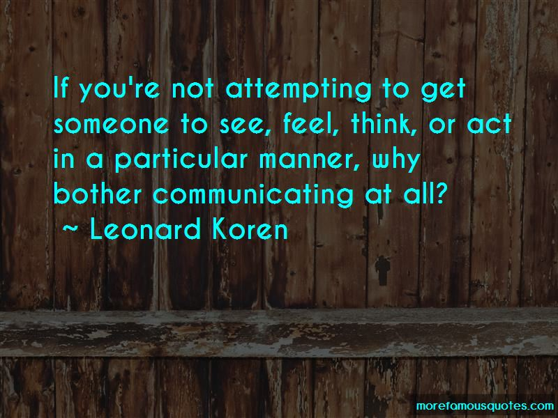 Leonard Koren Quotes Pictures 4