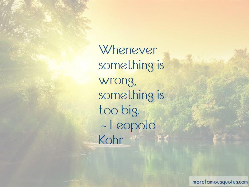 Leopold Kohr Quotes Pictures 2