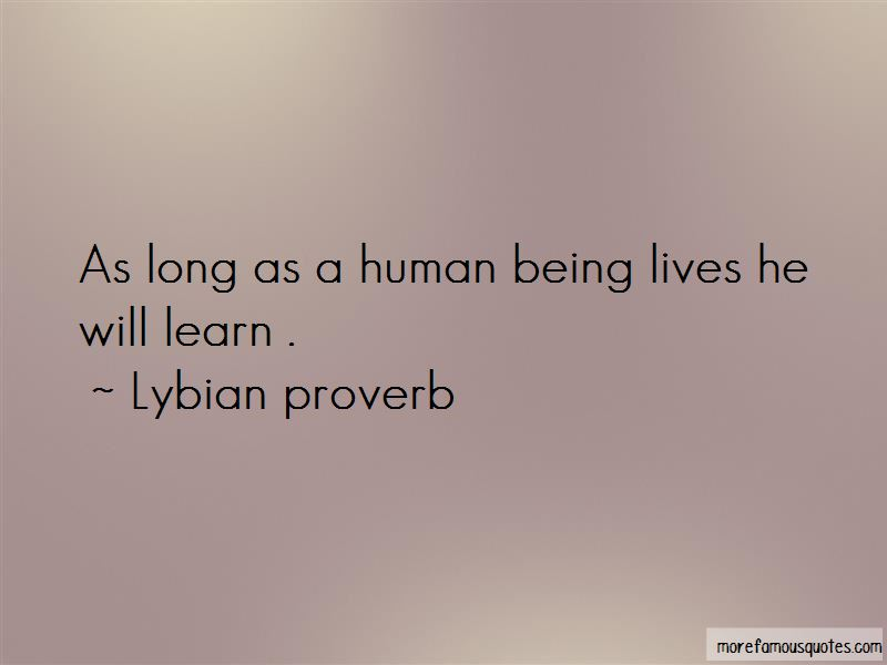 Lybian Proverb Quotes