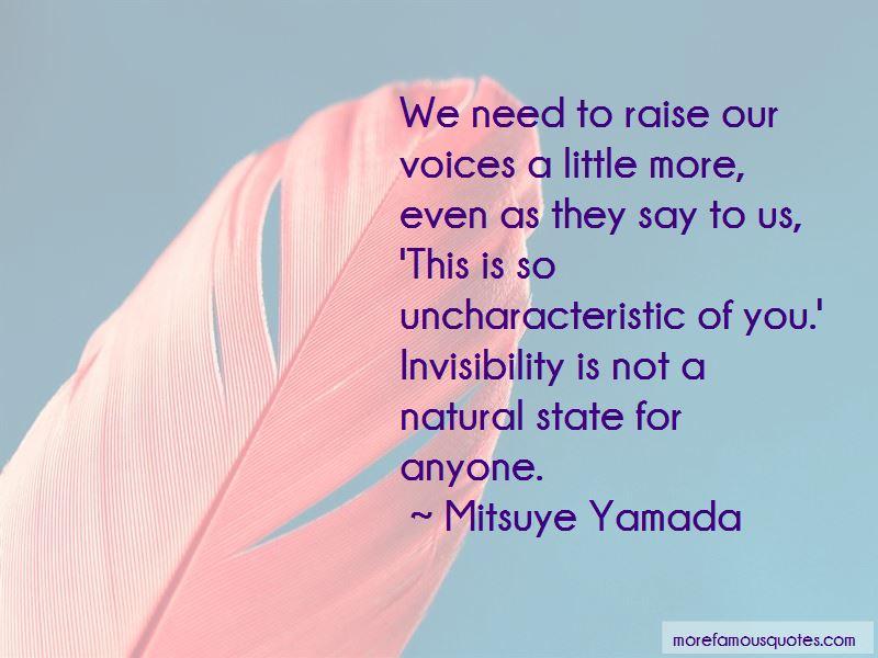 Mitsuye Yamada Quotes