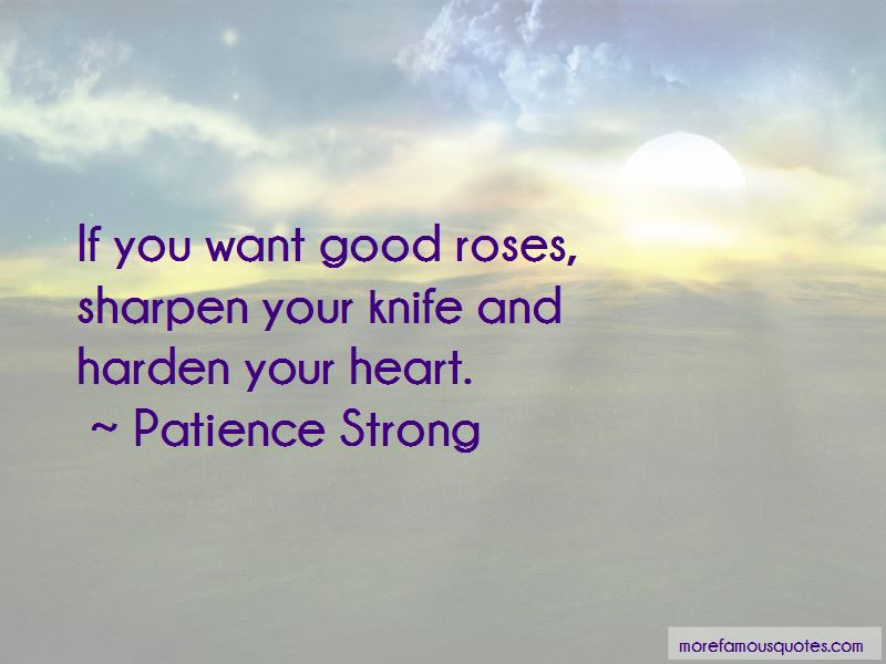 Patience Strong Quotes