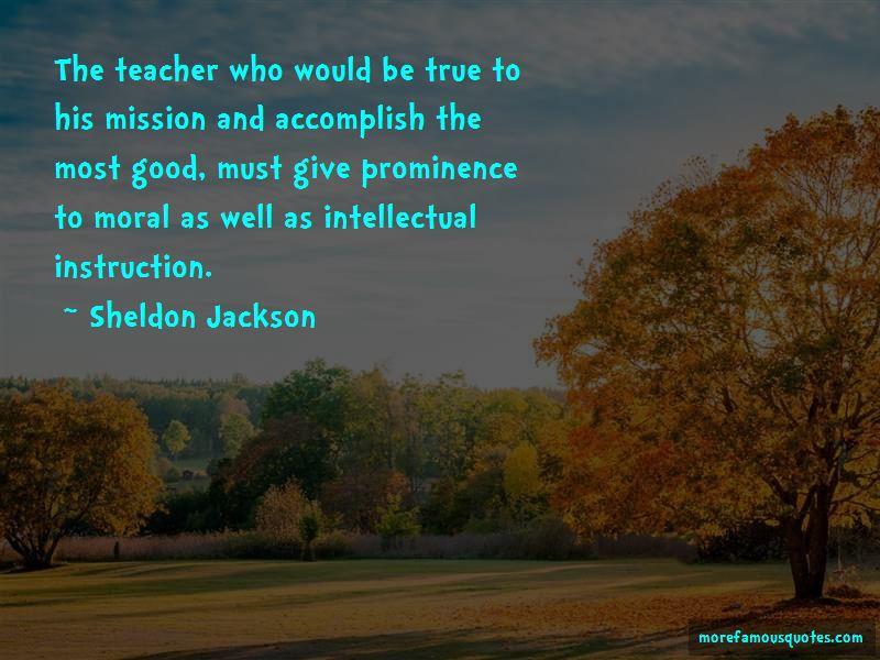 Sheldon Jackson Quotes Pictures 4