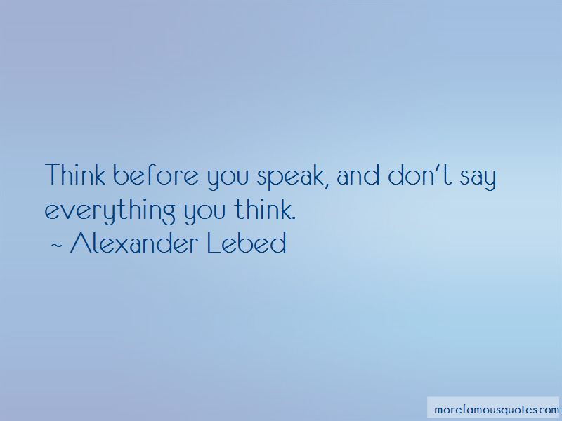 Alexander Lebed Quotes Pictures 4