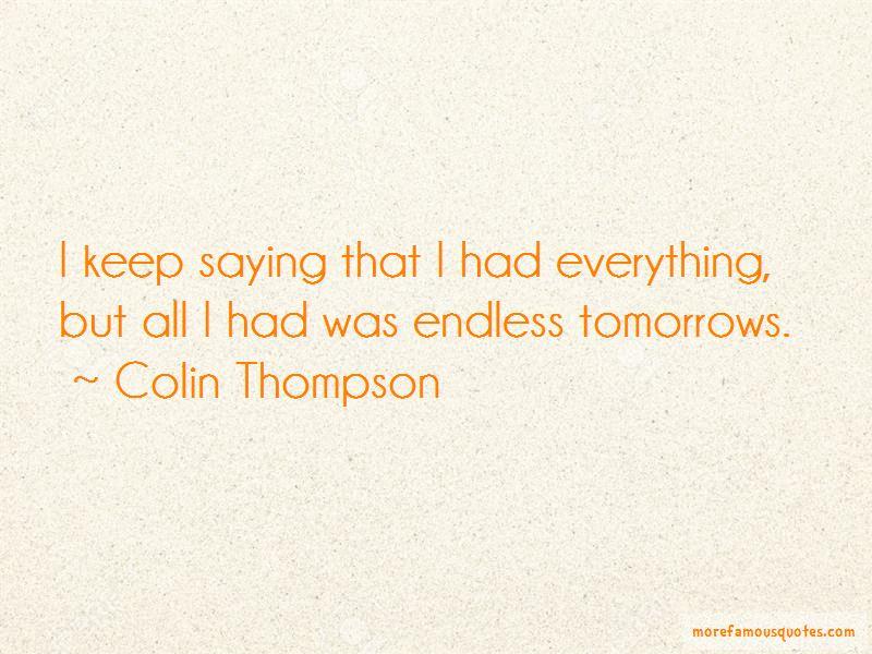 Colin Thompson Quotes