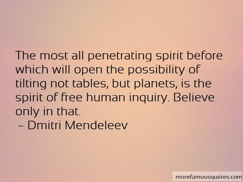 Dmitri Mendeleev Quotes