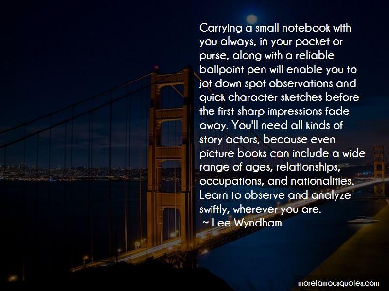 Lee Wyndham Quotes