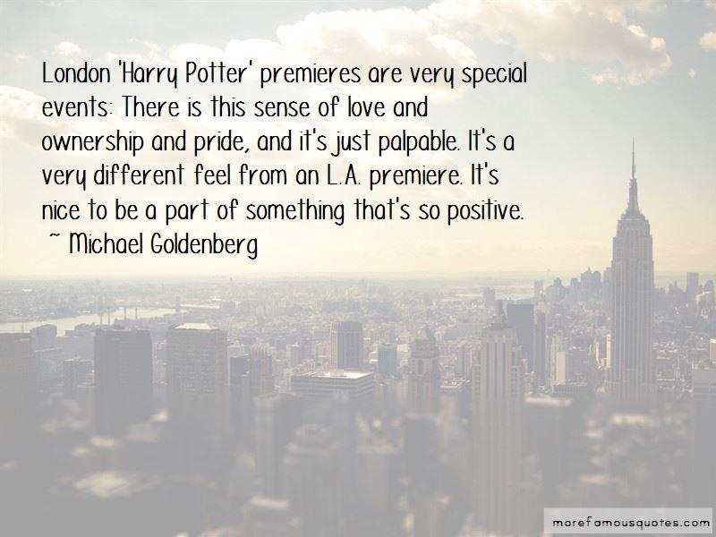 Michael Goldenberg Quotes