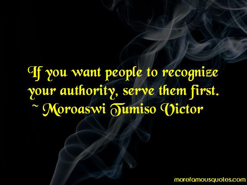Moroaswi Tumiso Victor Quotes