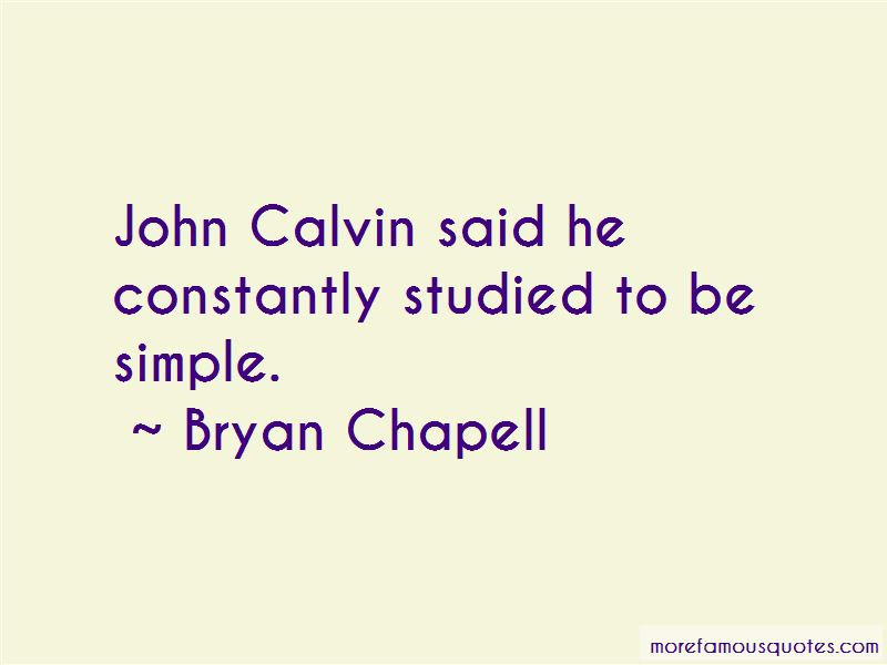 Bryan Chapell Quotes