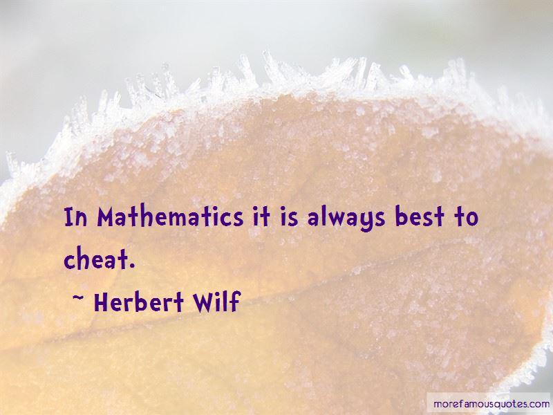 Herbert Wilf Quotes Pictures 2