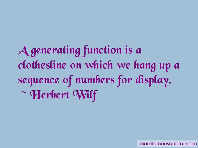 Herbert Wilf Quotes Pictures 4