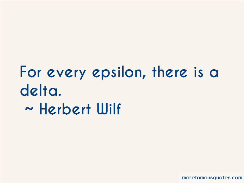 Herbert Wilf Quotes