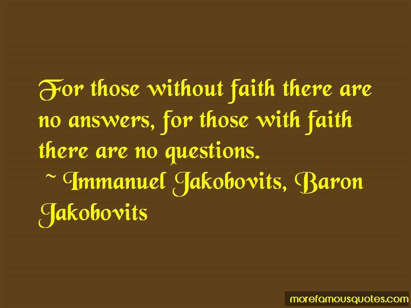 Immanuel Jakobovits, Baron Jakobovits Quotes