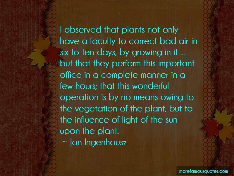 Jan Ingenhousz Quotes
