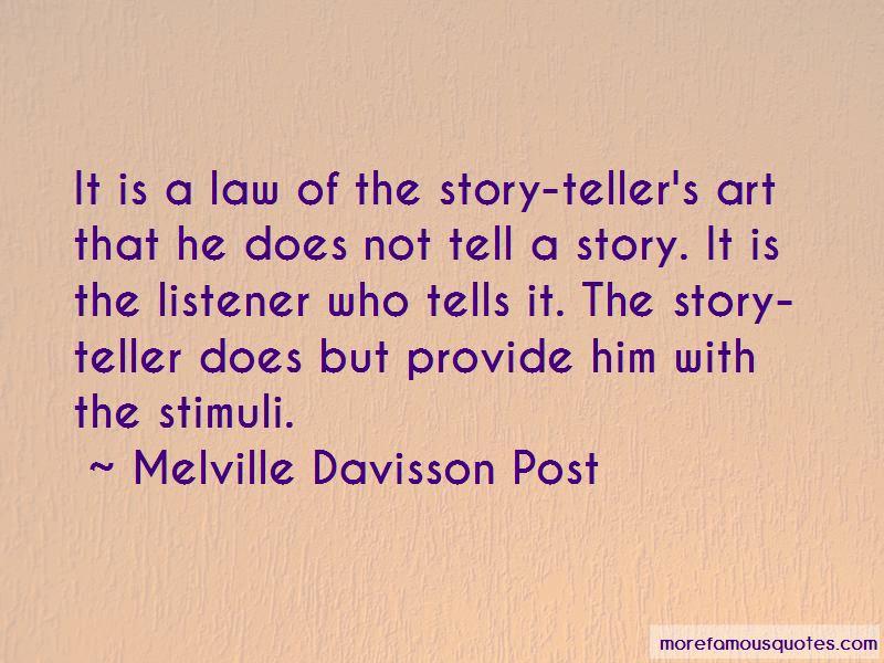 Melville Davisson Post Quotes Pictures 2