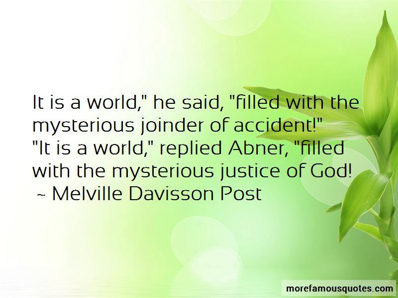 Melville Davisson Post Quotes