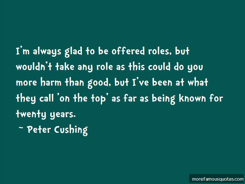 Peter Cushing Quotes