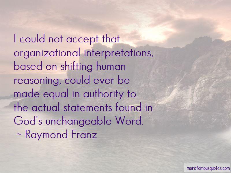 Raymond Franz Quotes